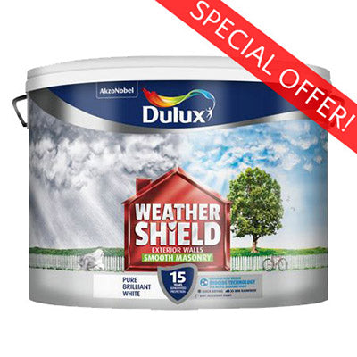 Dulux Weathershield Smooth Masonry Pure Brilliant White 7.5L