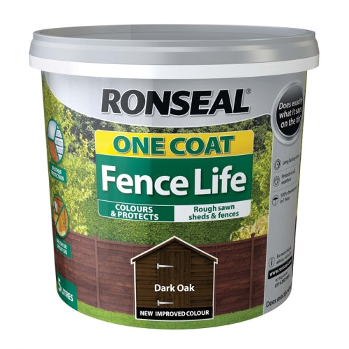 Ronseal One Coat Fance Life 5L Dark Oak