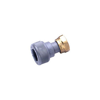 Pushfit Straight Tap Connector Grey 15mm