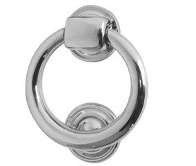 Ring Door Knocker 105mm Polished Chrome
