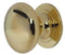 Cupboard Knob Polished Brass