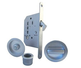Bathroom Sliding Door Kit Round Polished Chrome