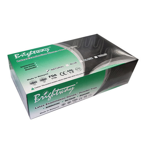 Brightway Disposable Latex Glove Powder Free Box Of 100