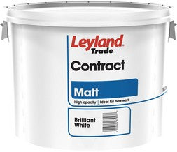 Leyland Contract Matt Brilliant White 10L