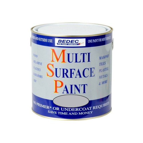 Bedec Multi Surface Paint Light Grey 750ml