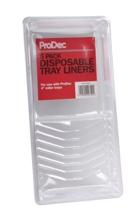 "Plastic Liners for Mini Roller Tray 4"" Tray 5Pack"