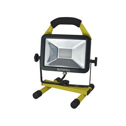 Faithfull FPPSL20FL SMD LED Pod Site Floodlight 20w 1800 Lumens 110V
