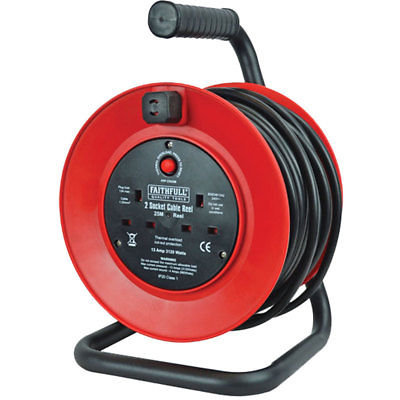 Cable Reel 230V 25m 13A