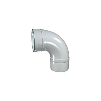 Solvent Soil 92° Single Socket Bend 100mm Grey