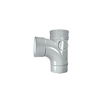 110mm Solvent Soil 9 Double Socket Branch Grey