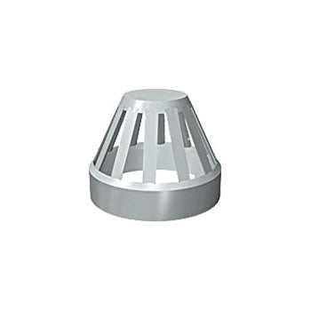 110MM SOLVENT SOIL VENT TERMINAL GREY