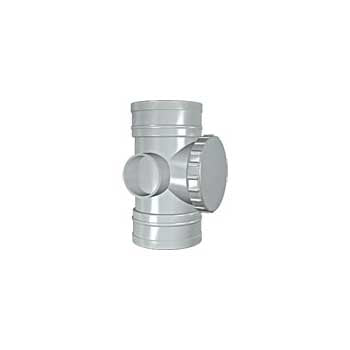 Solvent Soil Double Socket Access Pipe 110mm Grey