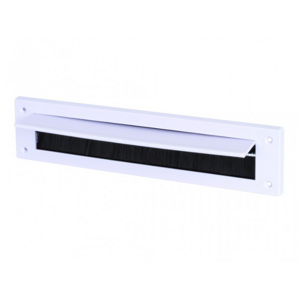 Draught Excluder Letterbox 43mm x 275mm opening with flap