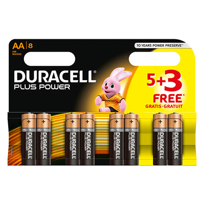Batteries 8 x AA