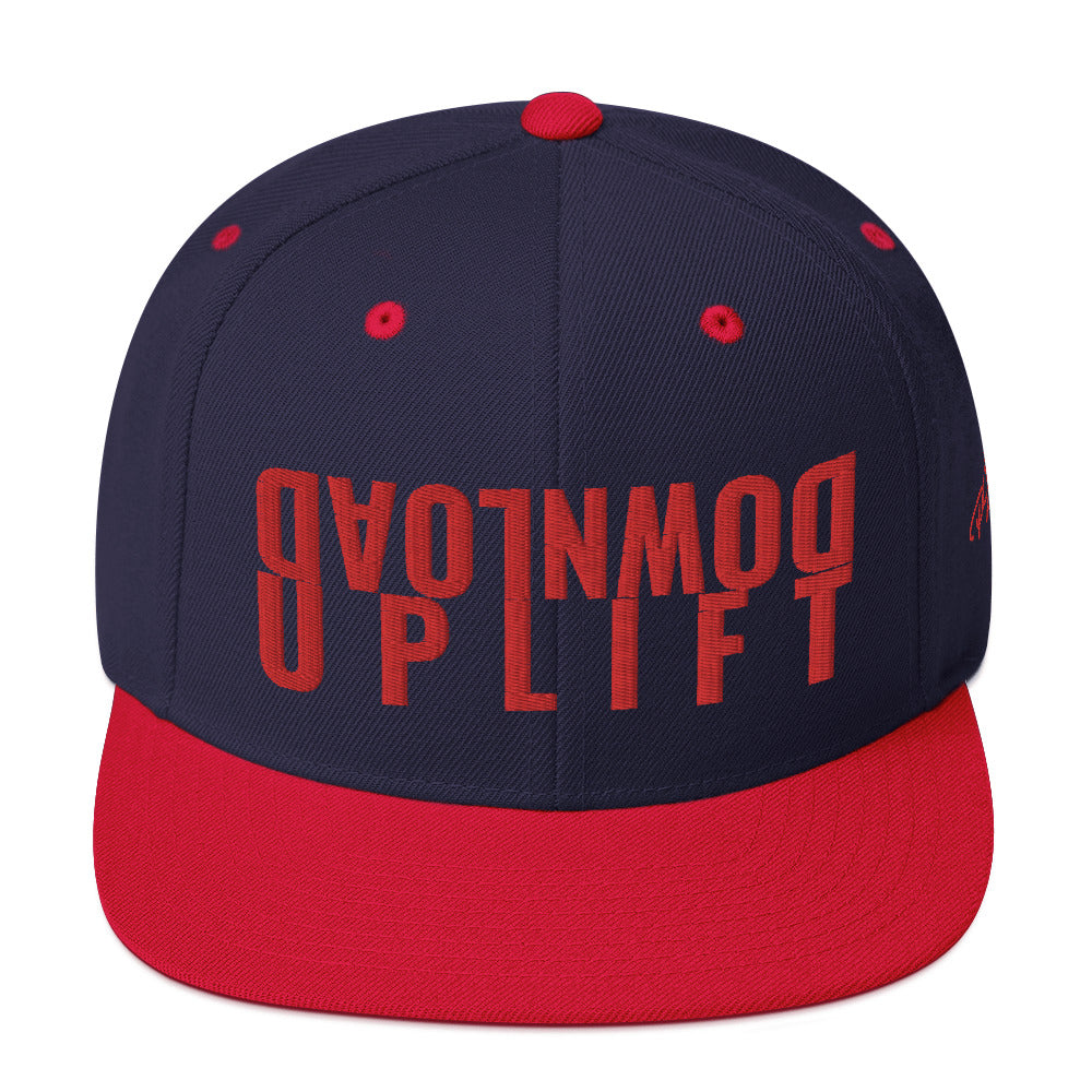 #Download_Uplift Blue/Red Snapback