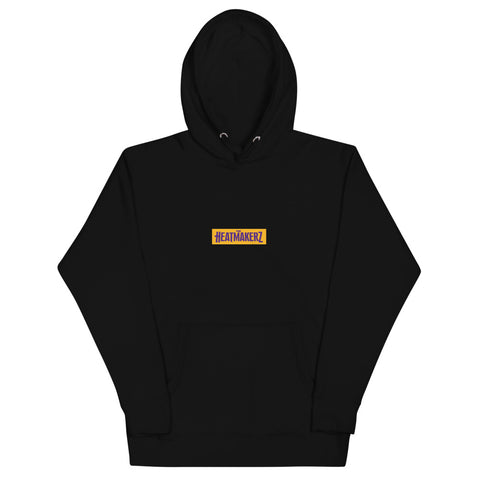keep Working Unisex Hoodie (Gold/Purple)