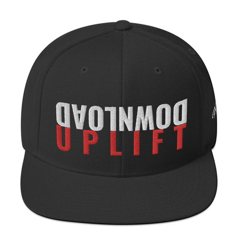 #Download-Uplift Black/Red Snapback