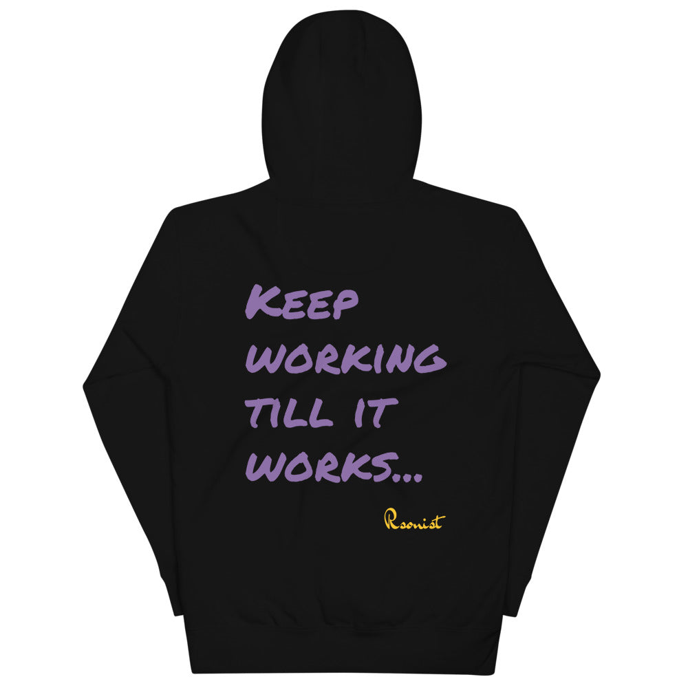 Keep Working Unisex Hoodie (Purple/Gold)