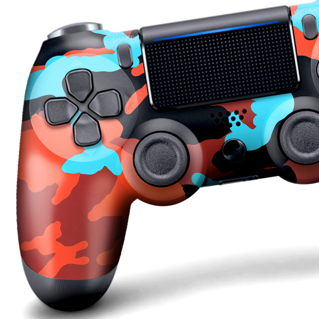 Authentic, Smooth & Easy To Use Wireless PS4 Custom Regular / Modded Controller With Exclusive Design - Blue Blood Camo