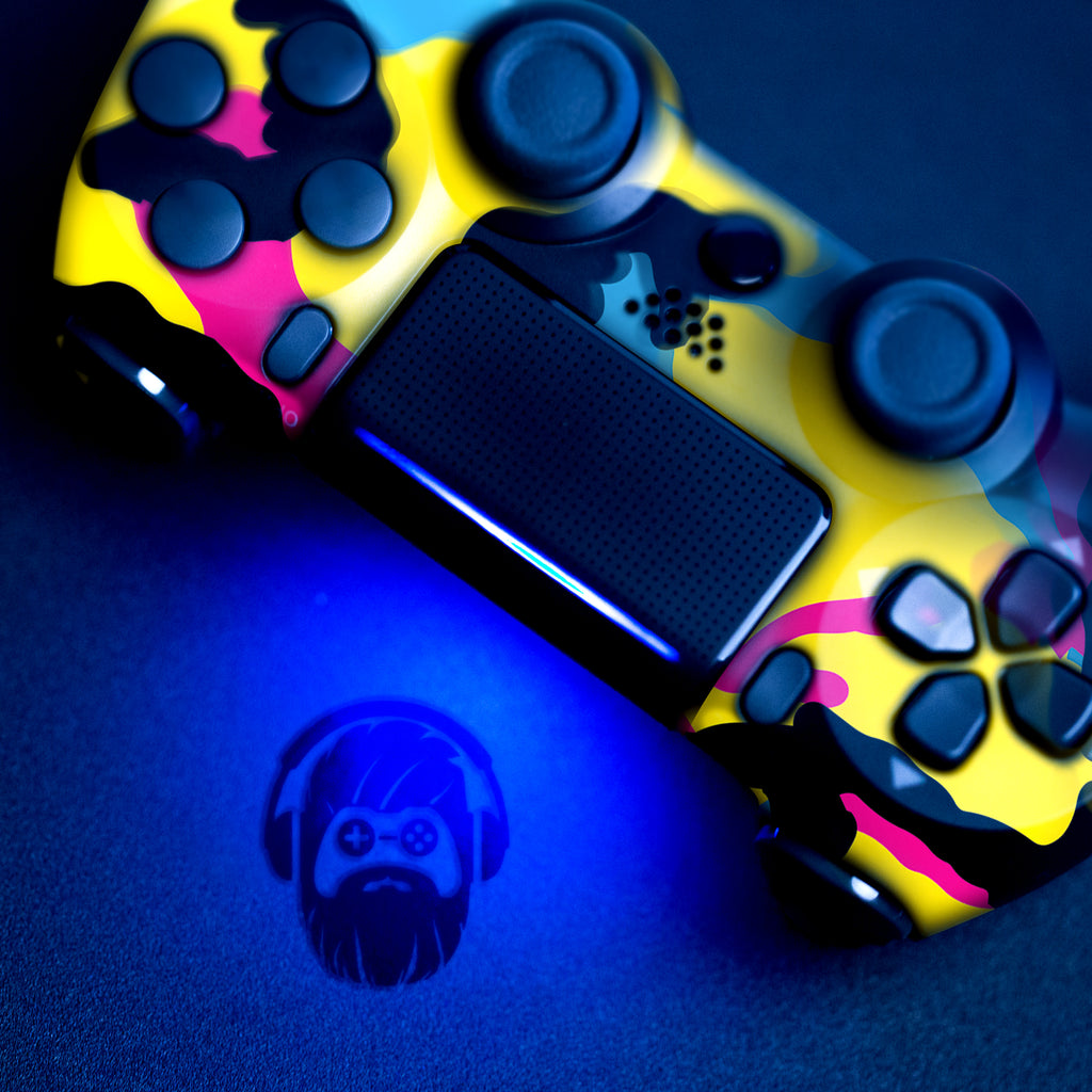 Authentic, Smooth & Easy To Use Wireless PS4 Custom Regular / Modded Controller With Exclusive Design - CMYK Camo
