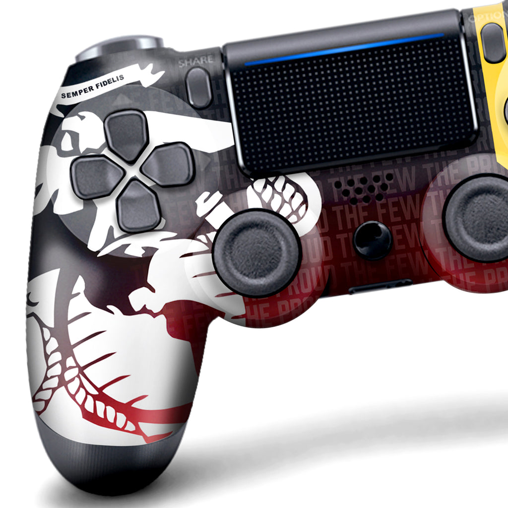 Authentic, Smooth & Easy To Use Wireless PS4 Custom Regular / Modded Controller With Exclusive Design -  US Marines