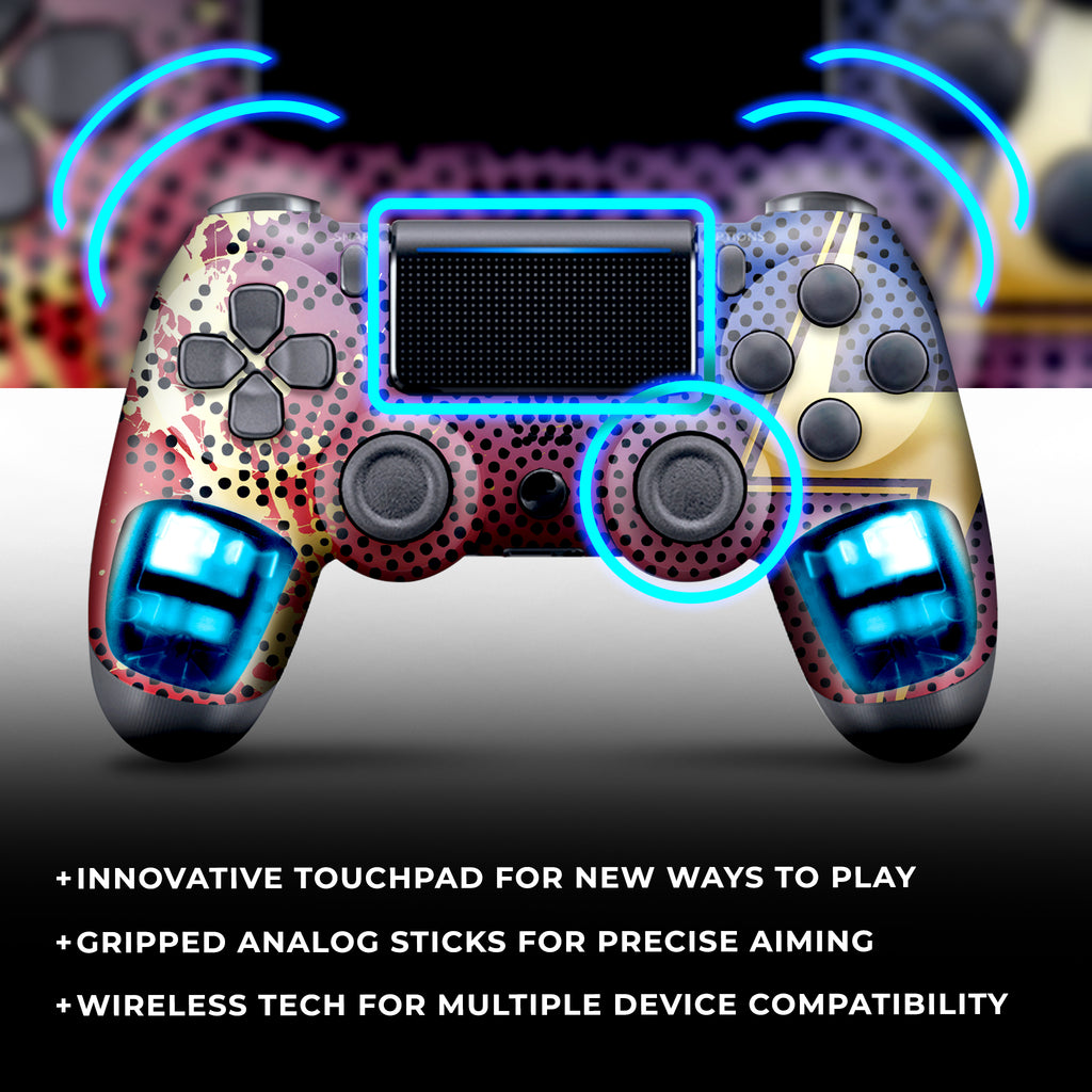 WIRELESS PS4 CUSTOM REGULAR / MODDED CONTROLLER - AVENGERS MS MARVEL