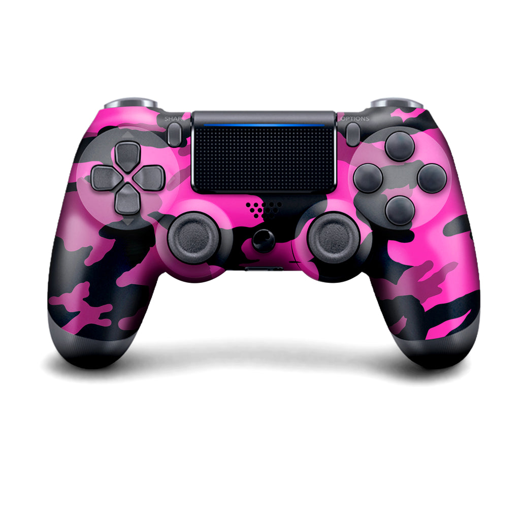 Authentic, Smooth & Easy To Use Wireless PS4 Custom Regular / Modded Controller With Exclusive Design - Pink Camo