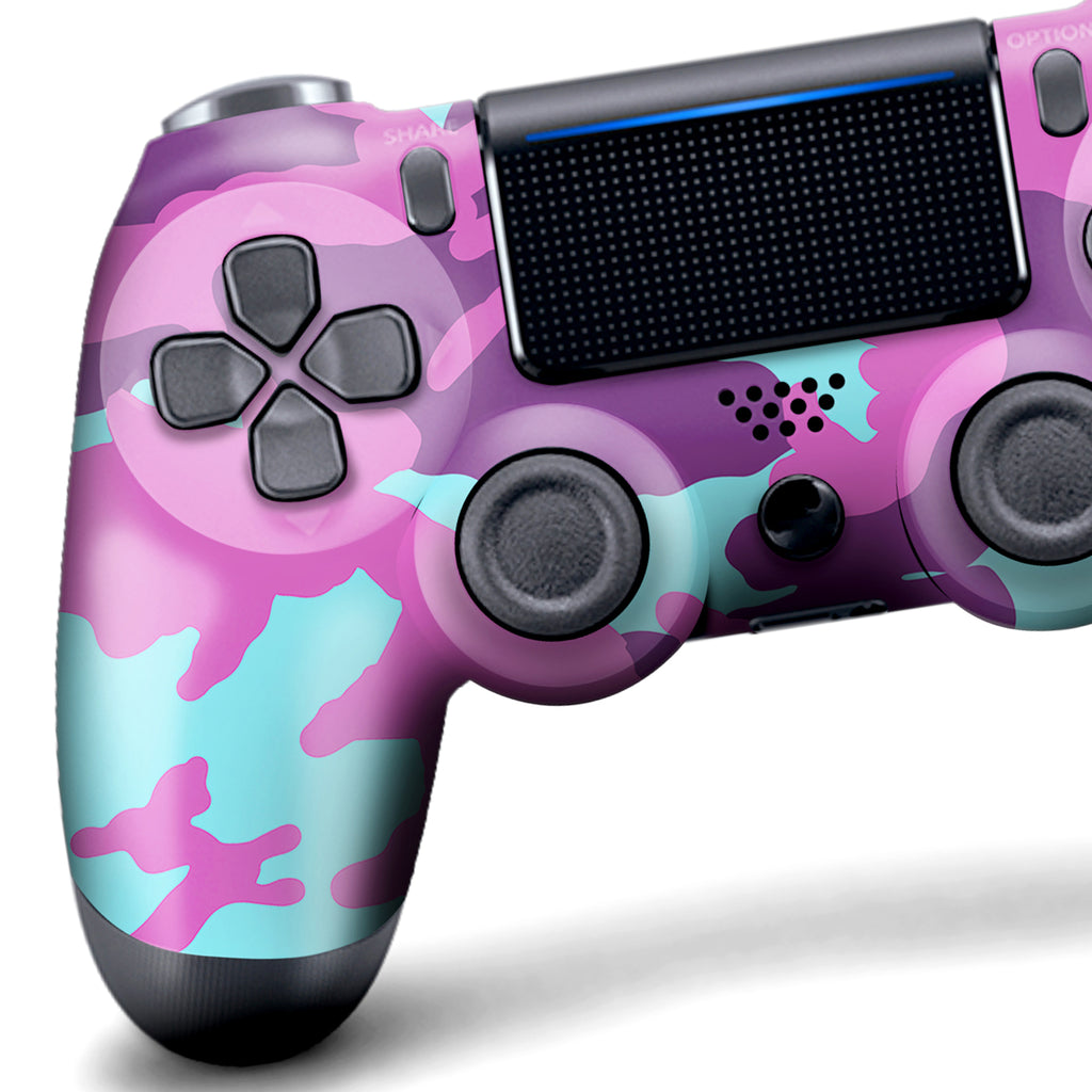 Authentic, Smooth & Easy To Use Wireless PS4 Custom Regular / Modded Controller With Exclusive Design - Purple Camo