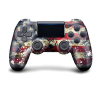 Authentic, Smooth & Easy To Use Wireless PS4 Custom Regular / Modded Controller With Exclusive Design - Tattered Flag