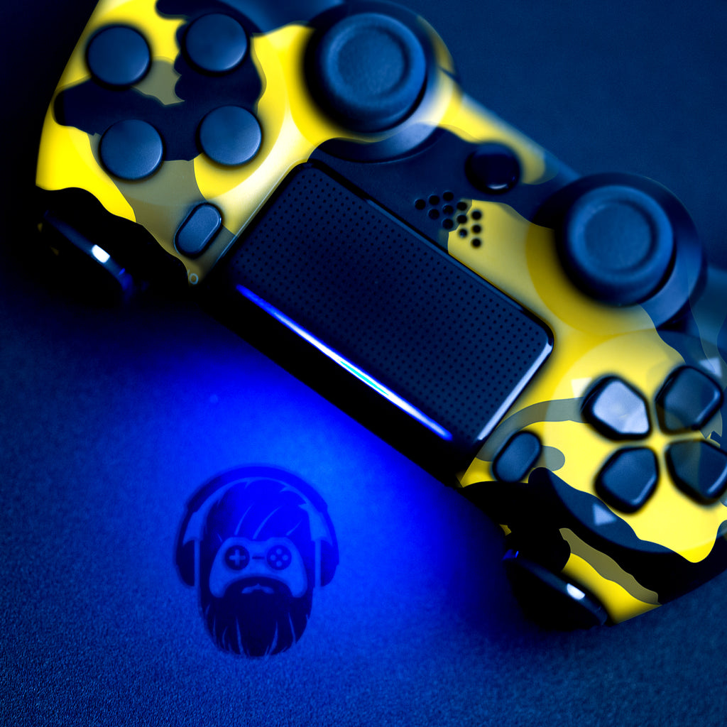 Authentic, Smooth & Easy To Use Wireless PS4 Custom Regular / Modded Controller With Exclusive Design - Yellow Camo