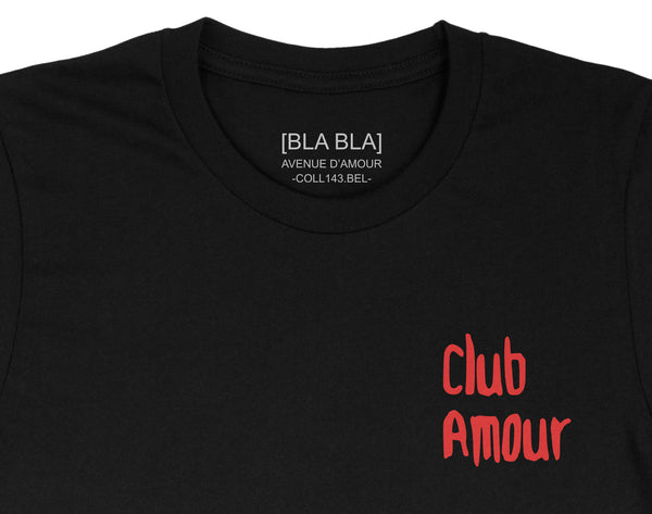 T-shirt Club Amour - Black