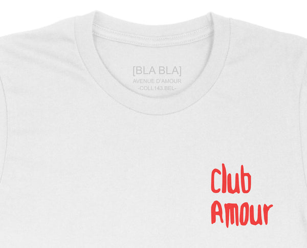 T-shirt Club Amour - White