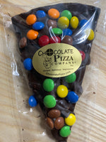 Candy Topped Chocolate Pizza Slice - Milk or Dark Chocolate