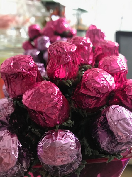 Solid Milk Chocolate Roses each