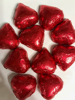 Milk Chocolate Foil Hearts 1/2 lb