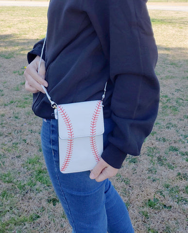Cell Phone Crossbody Baseball