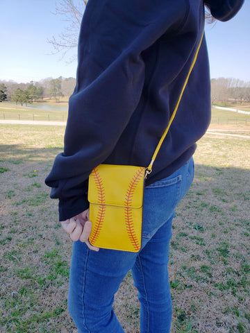 Cell Phone Crossbody Softball