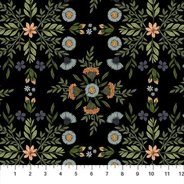 Bee Kind Flower Grid Black 23784-99