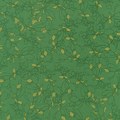 Collection Carolyn Friedlander Branches Moss with Metallic