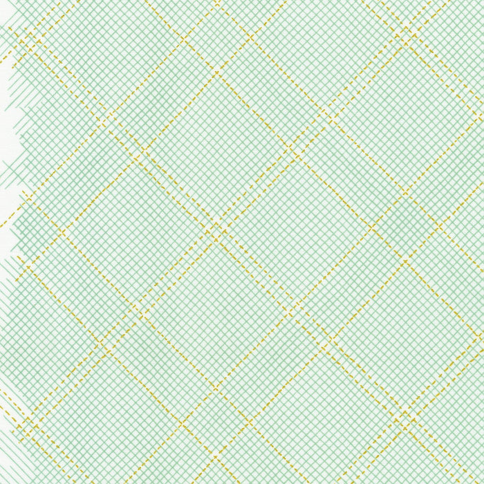 Collection Carolyn Friedlander Seafoam Cross Hatch with Metallic