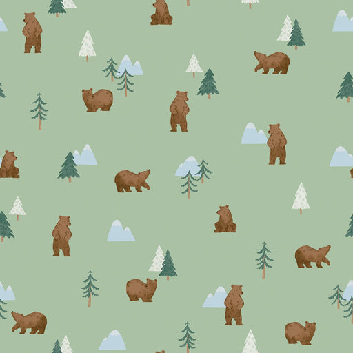 Camp Woodland Grizzly Bears Pistachio