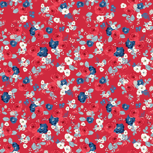 Land Of Liberty Floral Red