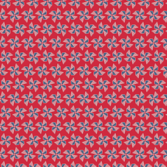 Land Of Liberty Pinwheels Red