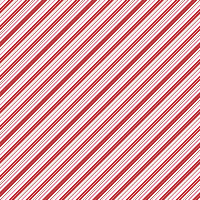 Santa Claus Lane Stripes Red