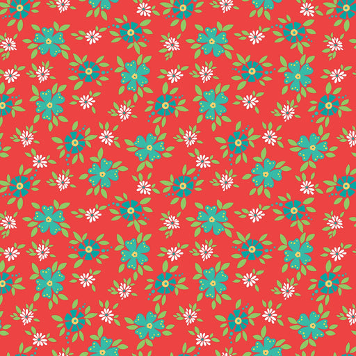 Shades Of Summer Floral Red