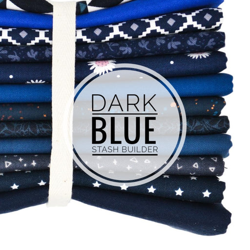 Dark Blue Stash Builder Fat Quarter Bundle
