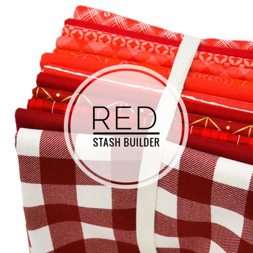 Red Stash Builder Fat Quarter Bundle