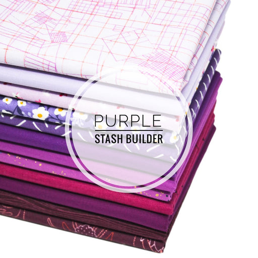 Purple Stash Builder Fat Quarter Bundle