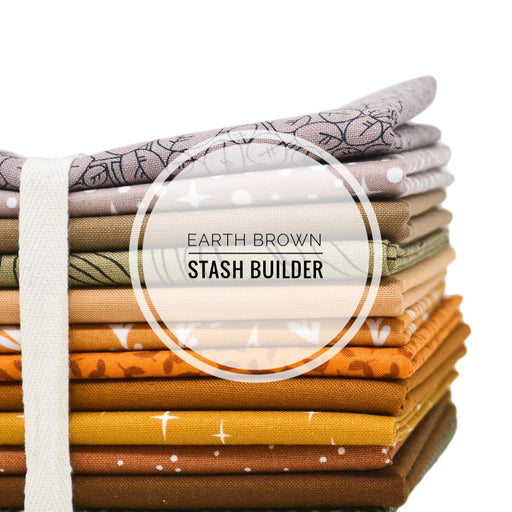 Earth Brown Stash Builder Fat Quarter Bundle