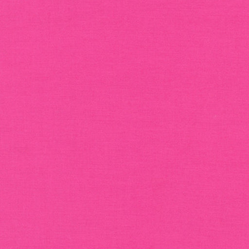 KONA Cotton Bright Pink Solid HALF YARD CUT ONLY